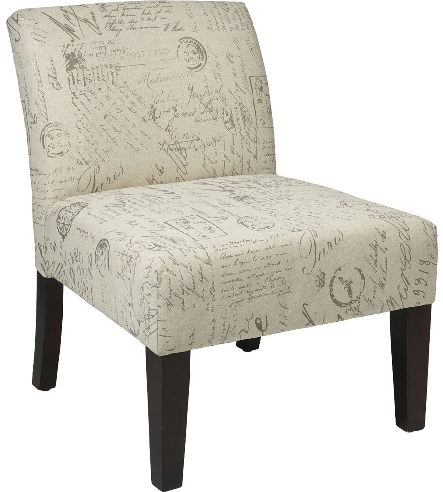Armless Accent Chair Script Design In Accent Chairs