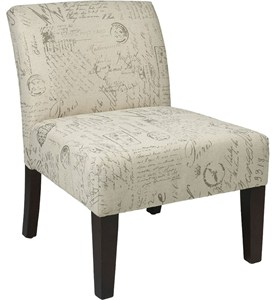 Armless Accent Chair - Script Design Image