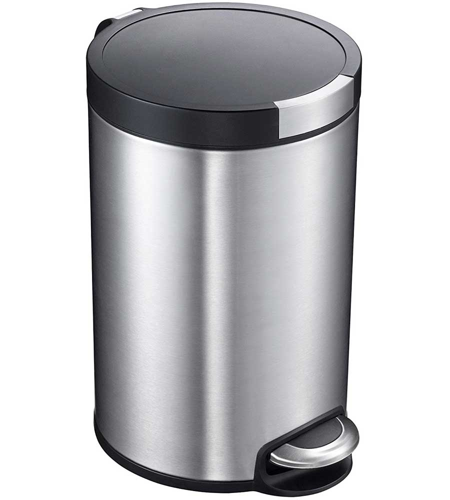 5l artistic stainless steel pedal trash can price
