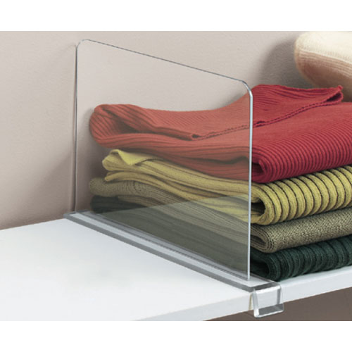 Acrylic Shelf Divider in Shelf Dividers