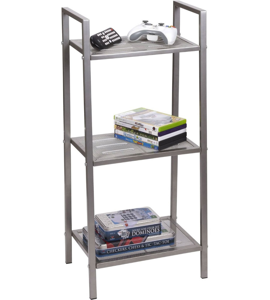 Asymmetrical Shelf In Free Standing Shelves