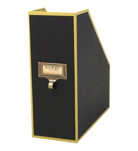 Cargo Atheneum Magazine File Box - Black Image