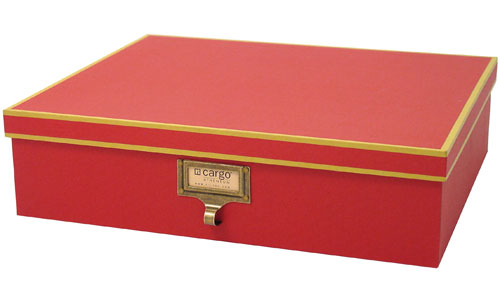 Cargo atheneum document storage box red in file storage for Box documents