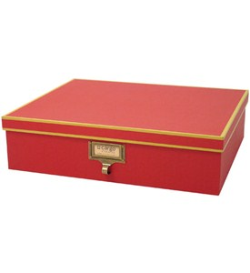Cargo Atheneum Document Storage Box - Red Image