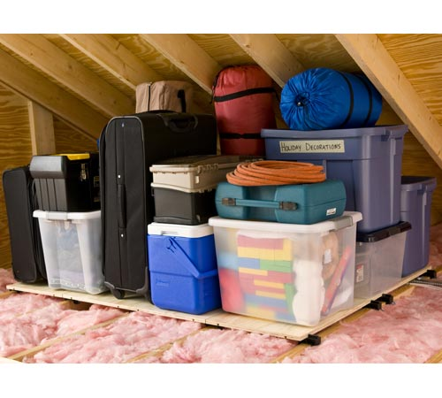 Atticraft attic storage system in overhead garage storage for Garage attic storage