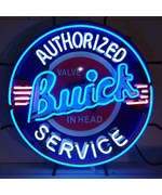 Authorized Buick Service Neon Sign with Silkscreen Backing by Neonetics