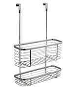 Axis Chrome Over Cabinet Storage Basket and Tray