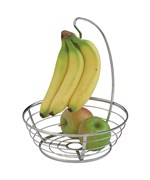 Axis Chrome Banana Holder and Fruit Basket