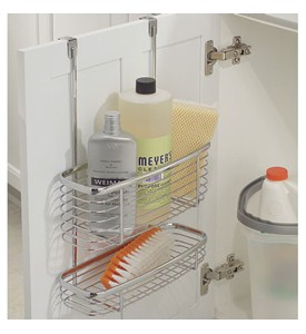 Axis Chrome Over Cabinet Storage Basket and Tray Image