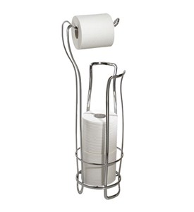 Axis Toilet Paper Holder and Reserve - Chrome Image
