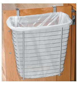 Axis Chrome Over Cabinet Wastebasket Image