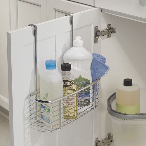 Chrome Over The Door Storage Rack . - Over The Door Adjustable Storage Organizer Bath Kitchen Closet