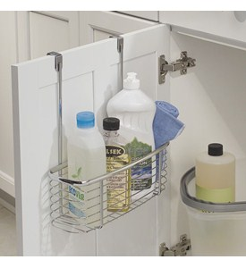 Axis Chrome Over Cabinet Storage Basket Image
