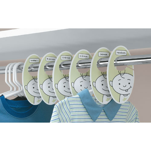 Baby Closet Dividers Set of 6 in Kids Closet Organizers