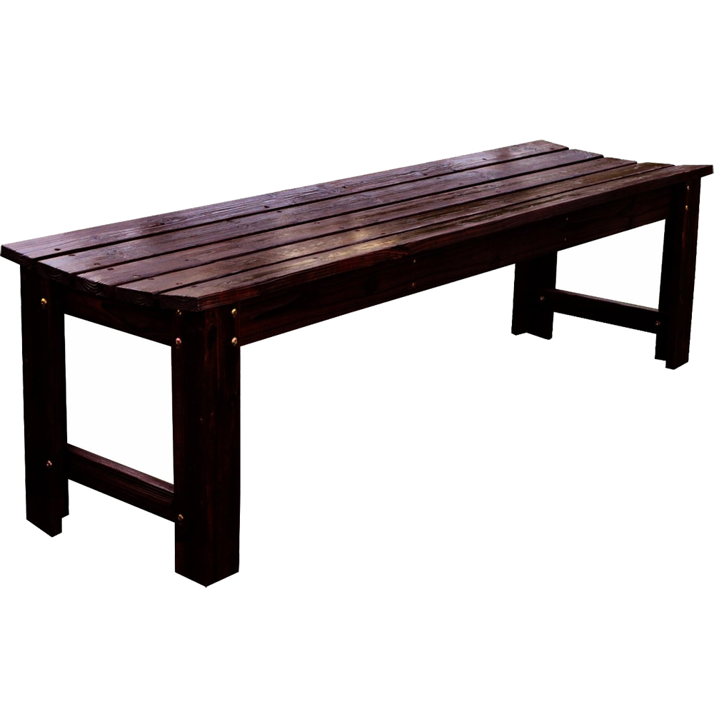 Backless wood garden bench in outdoor benches Yard bench