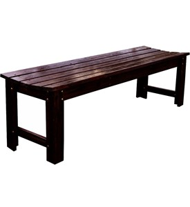 Backless Wood Garden Bench Image