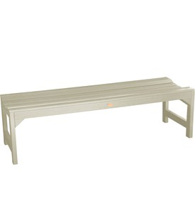 Backless Garden Bench Image