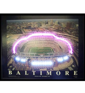 Baltimore Football Stadium Neon LED Art Picture Image