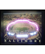 Baltimore Football Stadium Neon LED Art Picture