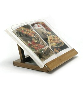 Bamboo and Acrylic Cookbook Holder Image