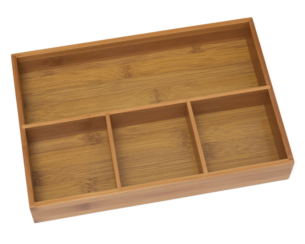 Bamboo drawer organizer in desk drawer organizers - Drawer desk organizer ...