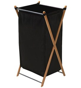 Bamboo Foldable Laundry Hamper Image