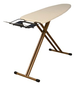 Bamboo Ironing Board with Iron Rest Image