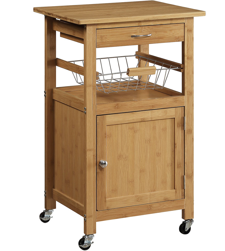 Bamboo Kitchen Cart in Kitchen Island Carts