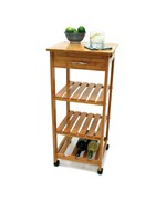 Bamboo Kitchen Cart with Shelving