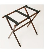 Bamboo Luggage Rack with 3 Vinyl Straps