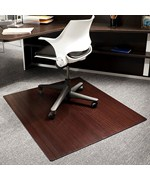 Bamboo Office Chair Mat - 42x48 Inch