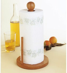 Bamboo Paper Towel Stand Image