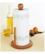 Bamboo Paper Towel Stand