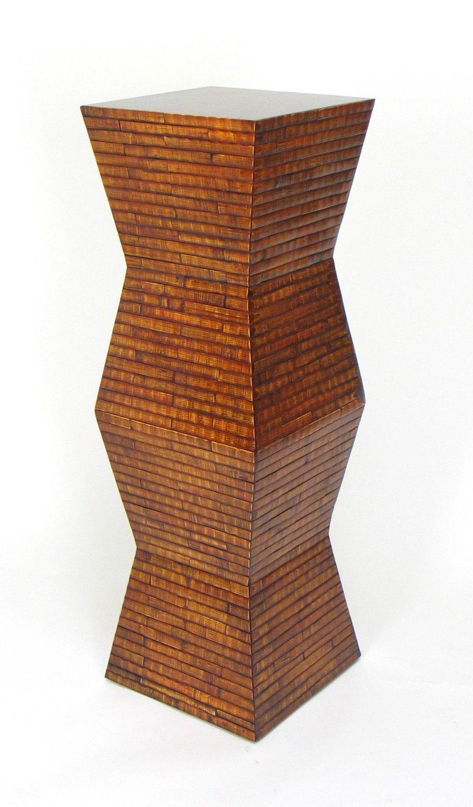 Bamboo pedestal by wayborn 5667 in indoor plant stands - Plant pedestal indoor ...