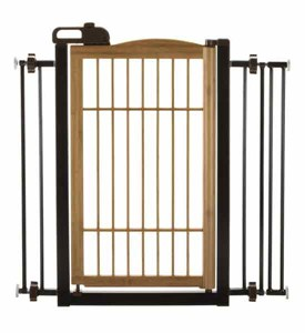 Richell Pet Gate - One-Touch Bamboo Image