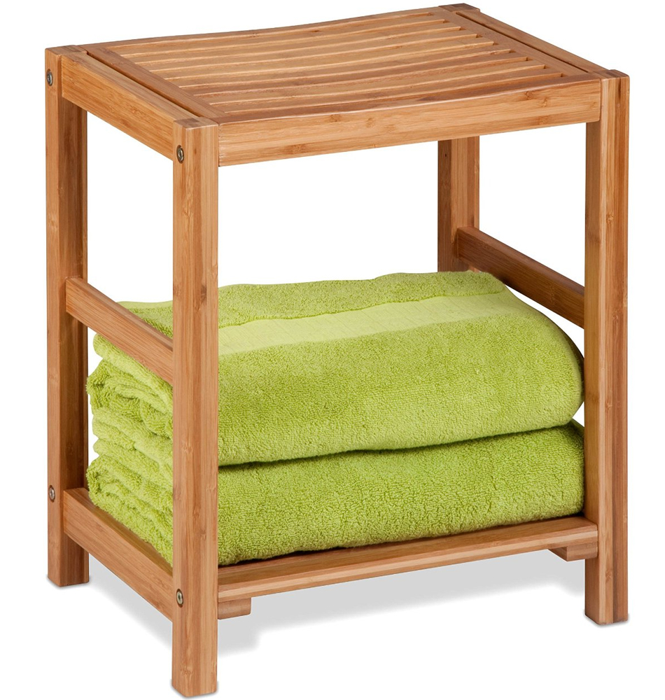 Bamboo Shower Bench In Tub Caddies And Accessories