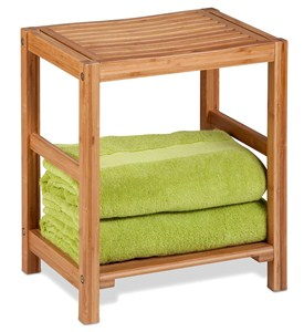 Bamboo Shower Bench Image