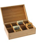 Bamboo Storage Box with Dividers