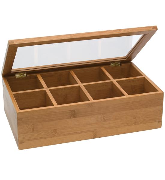 Bamboo Tea Box In Tea And Coffee Storage