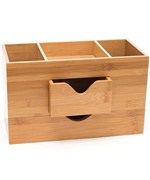 Bamboo Three-Tier Desk Organizer