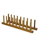 Bamboo Wood Plate Rack