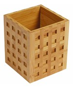 Bamboo Utensil Holder - Square