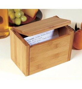 Bamboo Recipe Box Image