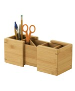 Bamboo Expandable Pencil Cup
