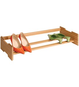 Stackable Bamboo Shoe Rack Image