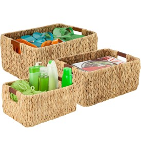 Banana Leaf Storage Baskets (Set of 3) Image