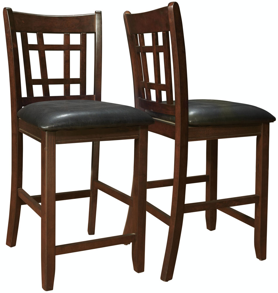 Bar Height Dining Chairs Set Of 2 In Wood Bar Stools