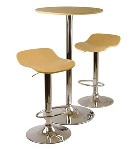 Pub Table Set - Light Wood - Modern Image