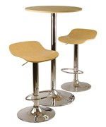 Pub Table Set - Light Wood - Modern