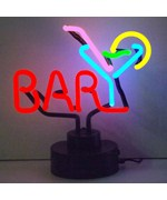 Bar with Martini Neon Sign Sculpture by Neonetics